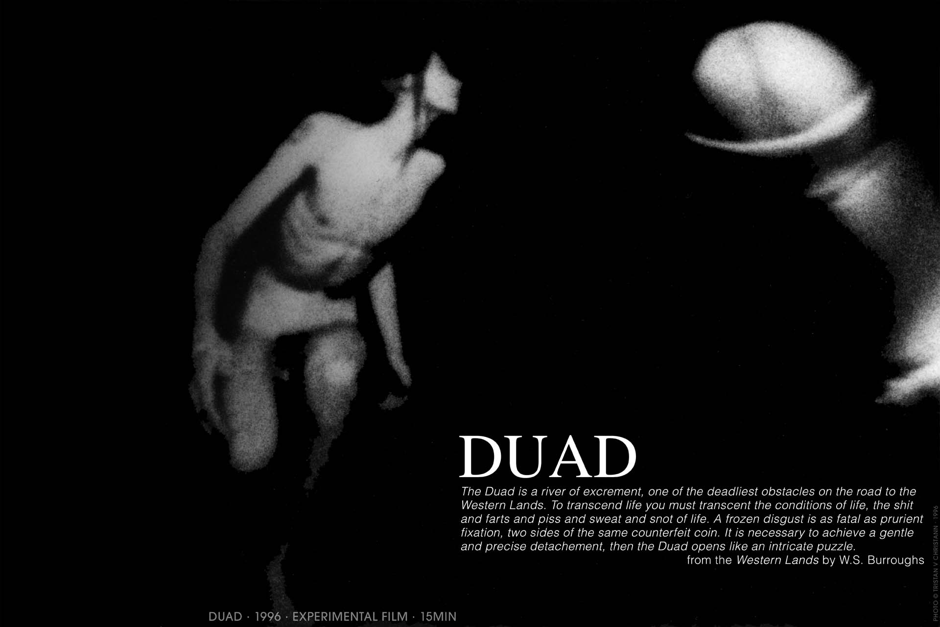 Tristan V Christann, DUAD, experimental film, 1996, William S Burroughs, the wild boys, flickering